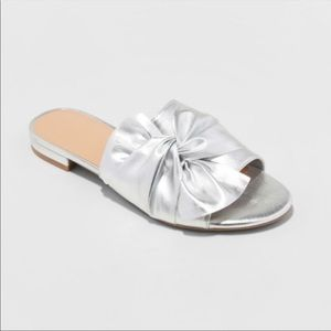 A New Day Huntress Metallic Knotted Slide Sandals